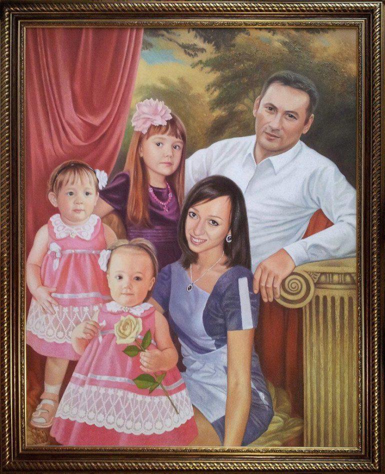 Семейный портрет маслом в Курске — правильная традиция…