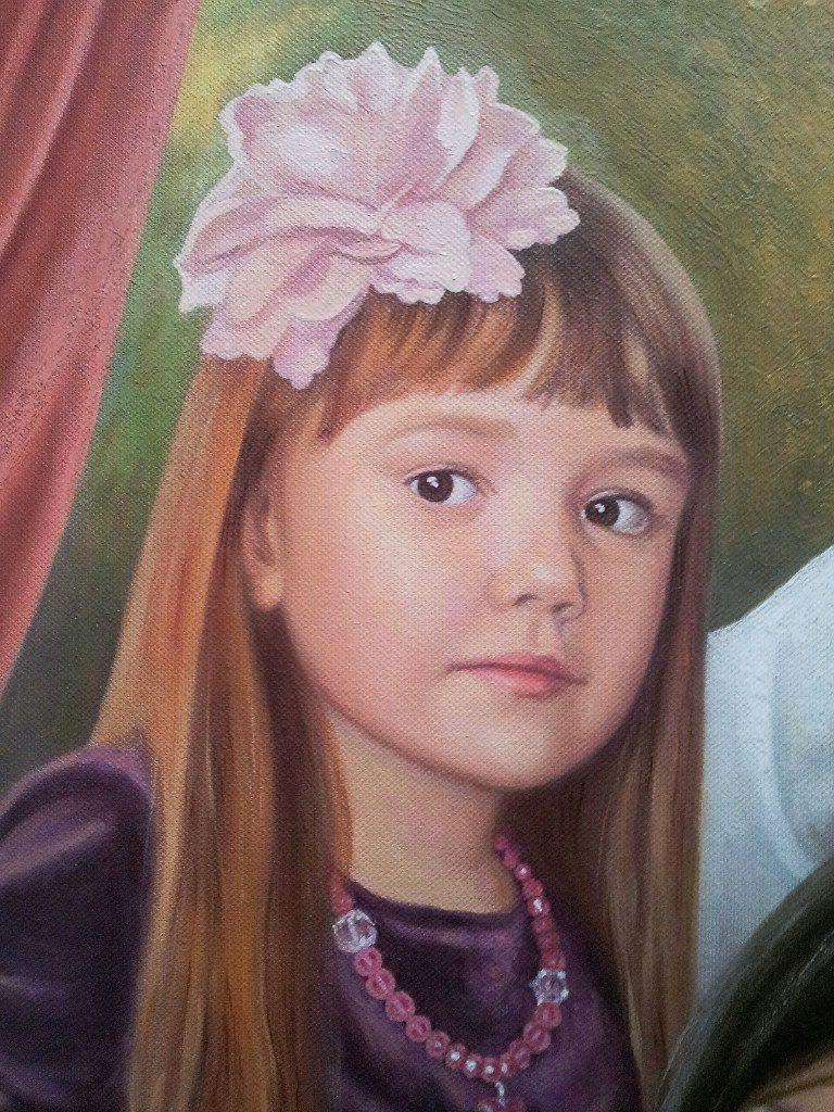 Семейный портрет на холсте Курск