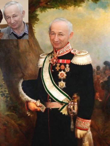Где заказать исторический портрет по фото на холсте в Курске?