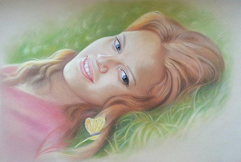 Настоящий портрет пастелью для любимой девушки в Курске, просто и со вкусом!