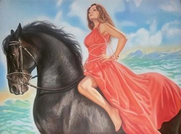 Настоящий портрет маслом на холсте в Курске…