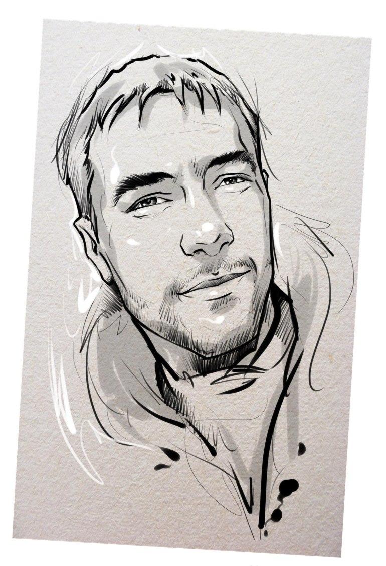 Портрет карандашом любимому мужу в Курске…