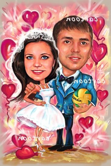 Свадебный шарж с оригинальным сюжетом в Курске!