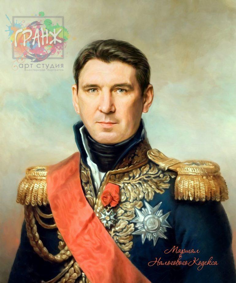 Портрет по фото на холсте в подарок мужчине на 23 февраля Курск