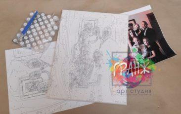 Картина по номерам по фото, портреты на холсте и дереве в Курске